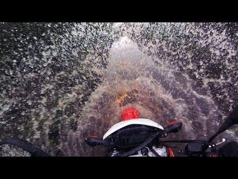 2017 Honda CRF250L   Short Muddy Green Lane Fun
