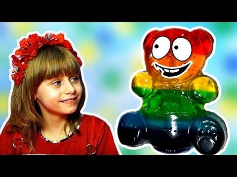 Разноцветный Желейный Медведь  Видео для Детей Обнимашки с Машей - DomaVideo.Ru