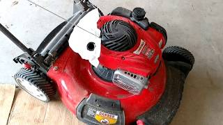 I show how to do the annual maintenance on my push mower. This includes changing Oil, Spark Plug & Air Filter on a Troy-Bilt TB110 push mower with a Briggs & Stratton 550EX engine.
