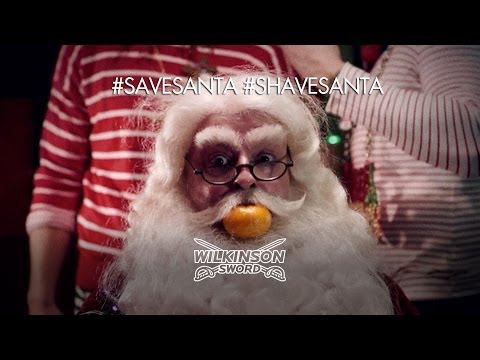 Wilkinson Sword invites public to help save or shave Santa after he is taken hostage by elves video