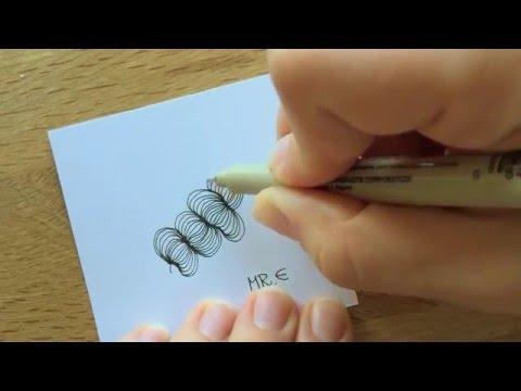 "Zentangle®  Muster: ""Mr. E"" with Bunte Galerie"