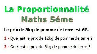 Maths 5ème - La proportionnalité Exercice 23