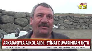 SAMSUN'DA TRAFİK KAZASI 1 YARALI