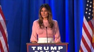 Melania Trump en su primer mitin de campaña en solitario