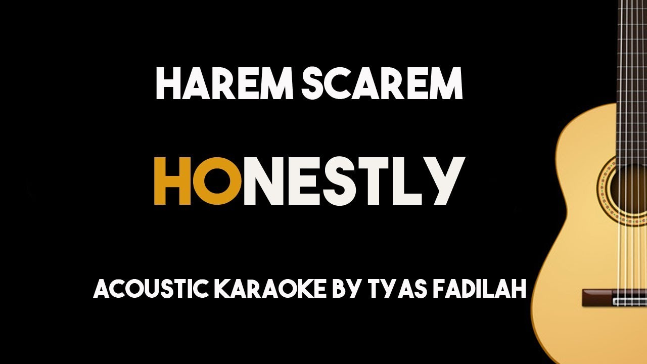 Honestly – Harem Scarem (Acoustic Guitar Karaoke Backing Track with Lyrics)