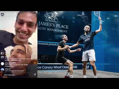 Squash: Ali Farag & Mo. ElShorbagy Discuss Their Rivalry and Relationship