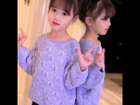 Свитер для маленьких девочек на осень и зиму, пуловеры девочек, кашемир… видео
