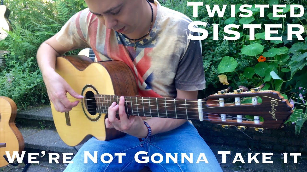 Twisted Sister – We're Not Gonna Take It – Acoustic Fingerstyle Guitar by Thomas Zwijsen