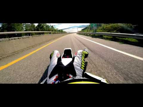 Gopro Video Of A Street Luger Hitting 100 MPH Street