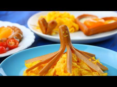 So wird jeder Morgen ein guter Morgen: 4 fröhliche Frühstücksteller.