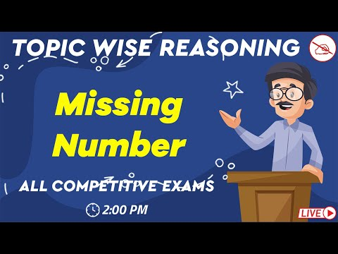 Topic Wise Reasoning   Missing Number   All Competitive Exams   Kuldeep Mahendras   2 pm