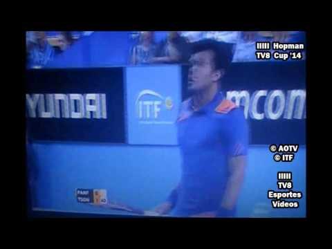 Grzegorz Panfil vs Jo-Wilfried Tsonga - Hopman Cup 2014 - Final - Set 1