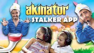 Akinator Knows Everything! STALKER APP COMES TO LIFE! Creepy GURU Fun! (FGTEEV GAMEPLAY / SKIT)