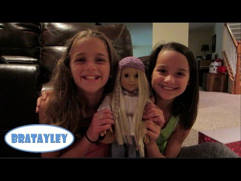 julie - Annie opens up her new American Girl Doll, Julie. She saved up her own money and was super excited to get her in the mail. Sydney shows the girls how to make...