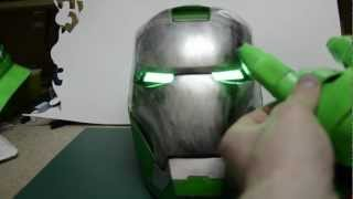 Iron Man Helmet Eyes Changing Colors And Effects Using Magnetic