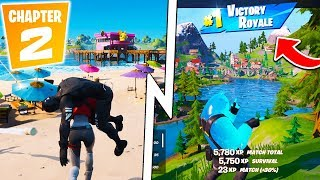 Fortnite Chapter 2!   All Secrets & Changes, Battle Pass Skins, New Weapons!