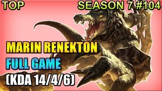 Afreeca MaRin - Renekton vs Karthus - Top - Full Game (Dec 30,...