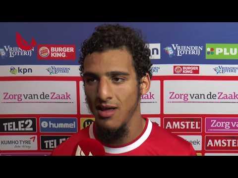 Ayoub na de wedstrijd FC Utrecht - Valletta FC
