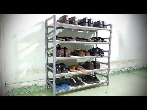 Chế Kệ Giày Dép bằng ống nhựa PVC - Thời lượng: 9:36.