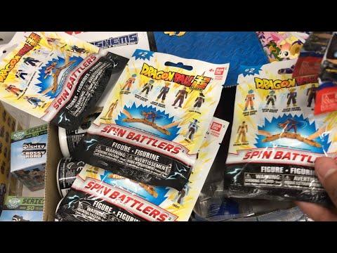 New Dragonball Super Bandai Spinbattlers mini toys actionfigures mystery blindba… видео