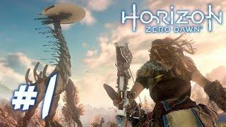 HORIZON ZERO DAWN Walkthrough - ROBOT DINOSAURS! |  Part 1 (PS4) HD