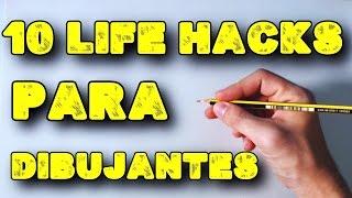 10 Life Hacks para Dibujantes Principiantes  English Subtitles CC  10 Life Hacks For Cartoonists