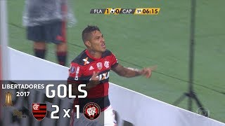 Gols - Flamengo 2 x 1 Atlético Paranaense - 3ª Rodada Libertadores 2017 (Grupo 4) - 12/04/2017 Narração: Luís Roberto,...