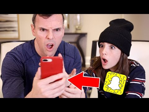 DAD FOUND MY SECRET SNAPCHAT ACCOUNT!!
