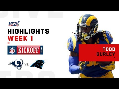 Todd Gurley Highlights vs. Panthers | NFL 2019