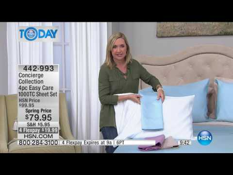 HSN | HSN Today: Concierge Collection Bedding 02.15.2017 - 08 AM
