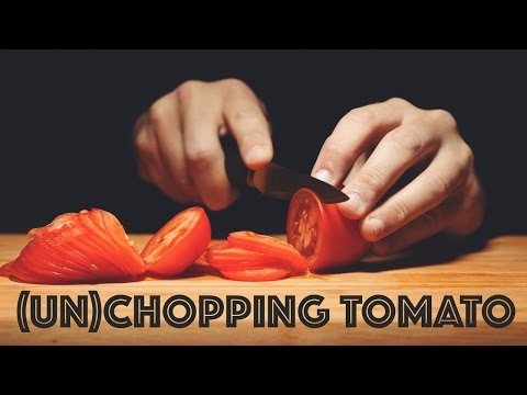 Mesmerizing ASMR Footage of Tomatoes Being Sliced in
