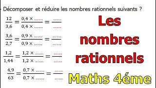 Maths 4ème - Les nombres rationnels Exercice 10