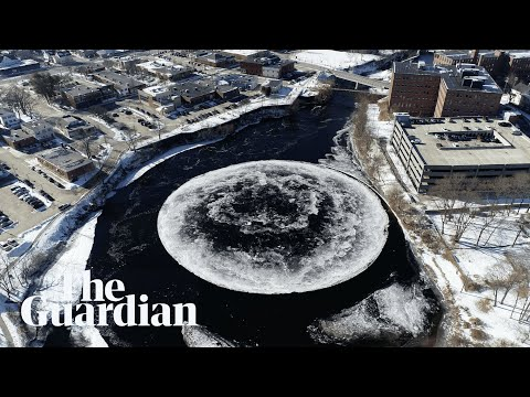 Giant Spinning Ice Disc