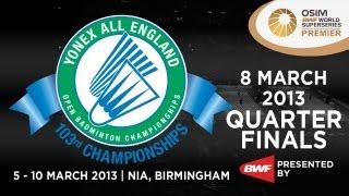 Event: Yonex All England Open Badminton Championships 2013 - Quarter Finals Date: 5 March 2013 - 10 March 2013 Venue: NIA, Birmingham Players: Lee Chong Wei ...