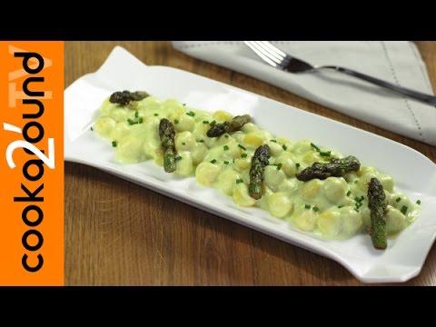 gnocchi alla crema di asparagi - la videoricetta
