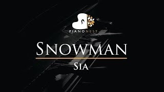 Sia - Snowman - Piano Karaoke / Sing Along / Cover with Lyrics