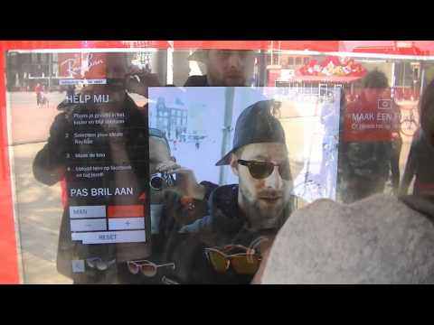 Interactive Rayban shop window