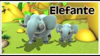 Spanish vocabulary, animals names, learning spanish with kids Educational cartoons for children. Educational videos to learn, learning kids with animated car...