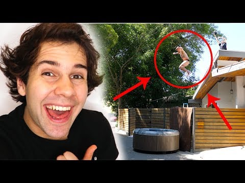 STEVE-O JUMPS OFF ROOF INTO HOT TUB!!