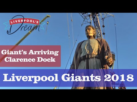 Liverpool's Dream.  Giants Arriving And Show (liverpool Giants) Clarence Dock