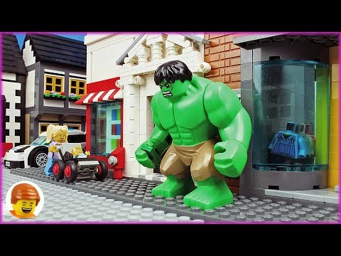 Lego Hulk Pizza and Toilet Fail