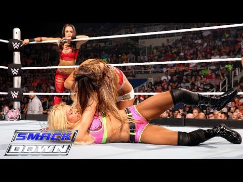 Becky Lynch & Charlotte vs. Nikki Bella & Brie Bella: SmackDown, Aug. 27, 2015