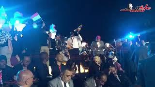 اجواء احتفاليةً للشباب الأفريقي، قبيل الجلسة الختامية لملتقى الشباب العربي الإفريقي بأسوان.