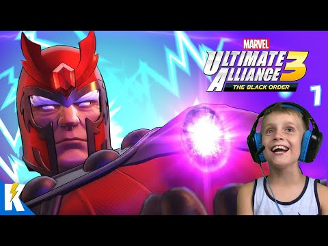 Capture MAGNETO's Infinity Stone! Marvel Ultimate Alliance Part 7 | KIDCITY GAMING