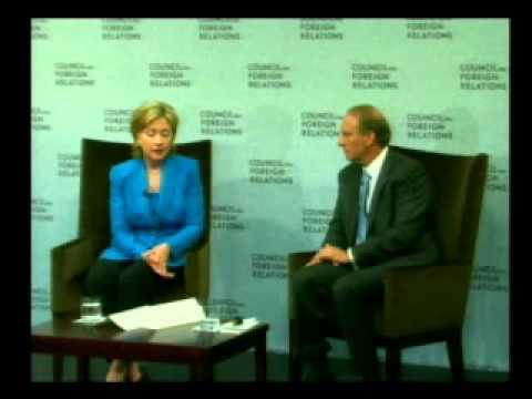A Conversation with U.S. Secretary of State Hillary Rodham Clinton