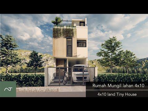 Bagaimana Desain Rumah lahan sempit 4x10? rumah lebar 4 meter, split desain? 4x10 split level design