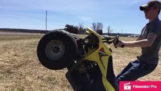 4. Ripppin Suzuki 90cc quad (still gonna send it😂)