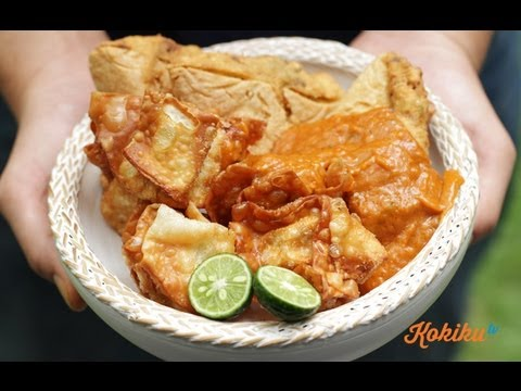 Resep Batagor (Fried Dumpling in Peanut Sauce Recipe Video)
