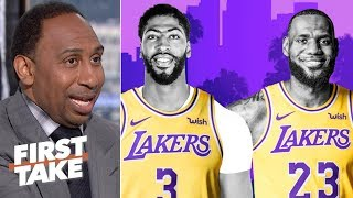 LeBron-AD outrank Kawhi-PG on Stephen A.'s top duos list | First Take