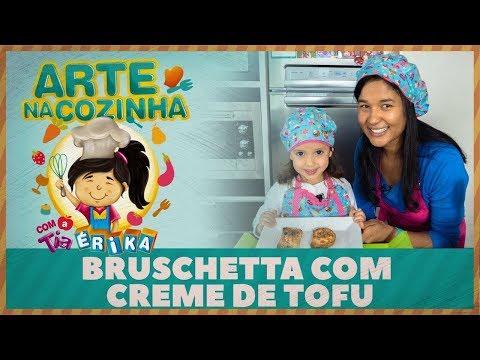 BRUSCHETTA COM CREME DE TOFU | Especial de férias com a Tia Érika